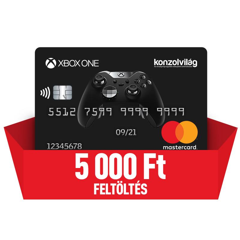 Bankkártya 5000 Ft-os feltöltéssel