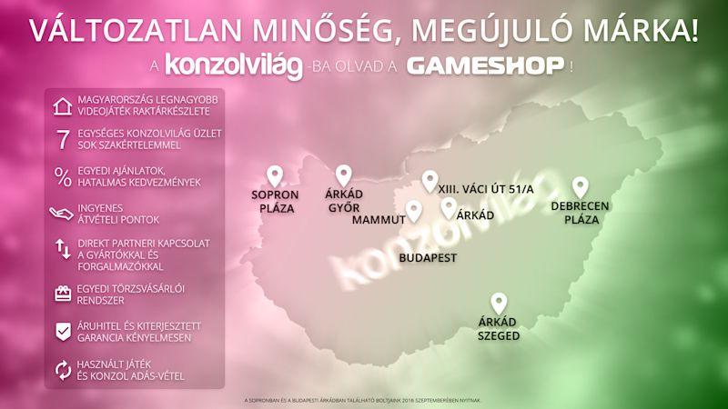Konzolvilág, GameShop összeolvadás